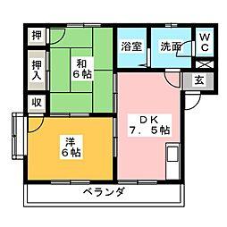 パークハイツ・知崎 I[1階]の間取り