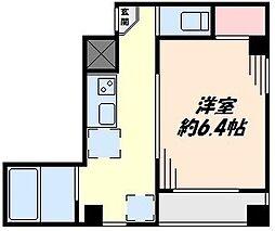 東京都大田区東蒲田1丁目の賃貸マンションの間取り