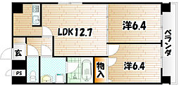 第25エルザビル〜CEREB三萩野〜[2階]の間取り