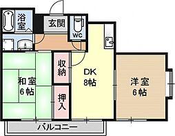 メゾンド・タナカ[303号室号室]の間取り