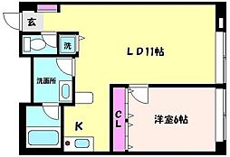 神戸新交通六甲アイランド線 アイランドセンター駅 徒歩5分の賃貸マンション 9階1LDKの間取り