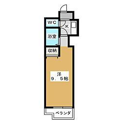 シティコア30朱雀[2階]の間取り