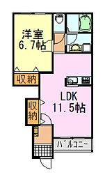 フォレストアーク大森Ⅱ[103号室]の間取り