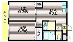 東京都世田谷区八幡山3の賃貸マンションの間取り