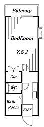 メゾントドロキ[2階]の間取り