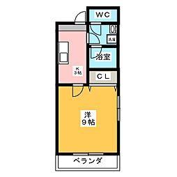 シャルムフォーレ[3階]の間取り