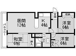 レスポワール発寒[3階]の間取り