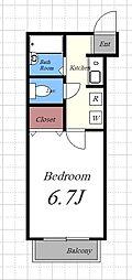メゾン希 A[2階]の間取り