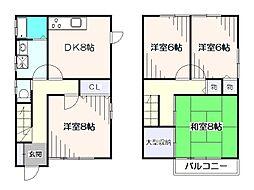 [一戸建] 東京都西東京市保谷町6丁目 の賃貸【/】の間取り