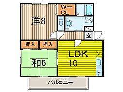 クレセント[2階]の間取り