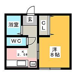 ラフォーレマコ[1階]の間取り