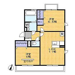 GRACE 2[2階]の間取り