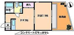 大阪府吹田市竹谷町の賃貸アパートの間取り