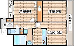 兵庫県神戸市中央区御幸通5丁目の賃貸マンションの間取り
