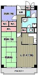 大阪府富田林市若松町西1丁目の賃貸マンションの間取り