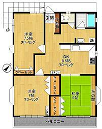 木村マンション[3階]の間取り