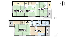 [一戸建] 京都府京都市伏見区日野野色町 の賃貸【/】の間取り
