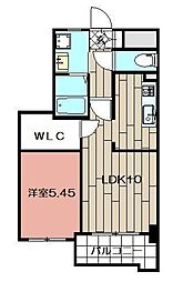 Studie小倉離宮 5階1LDKの間取り