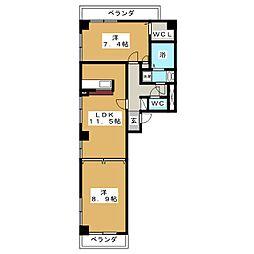 ドンクマサパートIビル[6階]の間取り