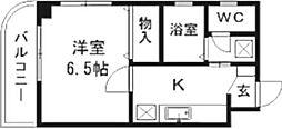 東京都江東区亀戸6丁目の賃貸マンションの間取り