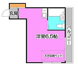 シャルマンK[3階]の間取り
