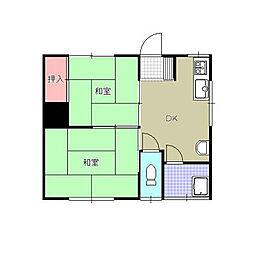 白石第一アパート[7号室]の間取り