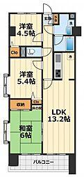 東京都八王子市台町1丁目の賃貸マンションの間取り