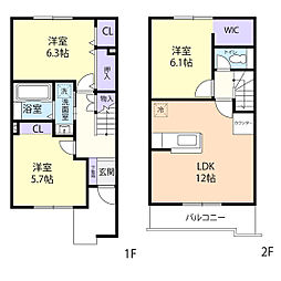 カノン I[2階]の間取り