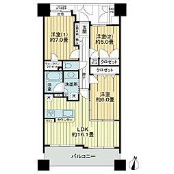 ライオンズタワー仙台青葉[16階]の間取り