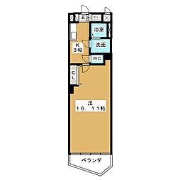 ヴァンキッシュ[4階]の間取り
