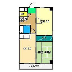 パルカモベ[3階]の間取り
