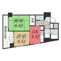ライオンズマンション千葉東[12階]の間取り