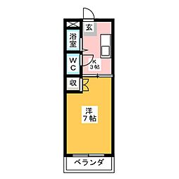 ホワイトハイム弥富[4階]の間取り