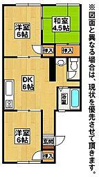福岡県北九州市若松区鴨生田4丁目の賃貸アパートの間取り
