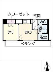 フラット大須[2階]の間取り