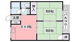 前田ハイツ[301号室]の間取り