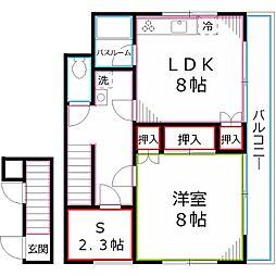 [一戸建] 東京都小平市小川東町 の賃貸【/】の間取り