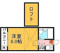 千葉県習志野市本大久保1丁目の賃貸アパートの間取り