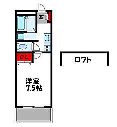 モンテ篠栗[1階]の間取り
