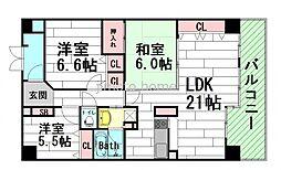 セントラルグランテージ千里古江台[4階]の間取り