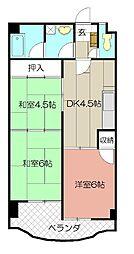 プレアール赤坂[306号室]の間取り