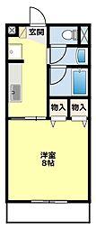 愛知県みよし市三好丘旭2丁目の賃貸アパートの間取り