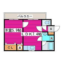 北海道札幌市東区北四十条東8丁目の賃貸マンションの間取り