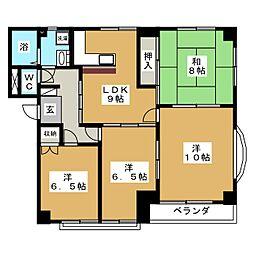 セントラーザ八幡[1階]の間取り