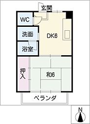 第2マルカネビル[1階]の間取り