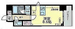 JR東海道本線 尾頭橋駅 徒歩8分の賃貸マンション 5階ワンルームの間取り