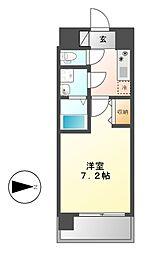 UURコート名古屋名駅[13階]の間取り