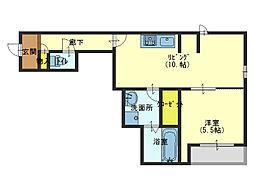 RAFTEL西邸(ラフテル)[1階]の間取り