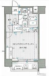 サンクレイドル横濱[7階]の間取り