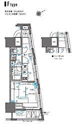 ZOOM横浜桜木町 7階1Kの間取り
